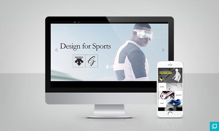 데상트 골프 웹/모바일 페이지