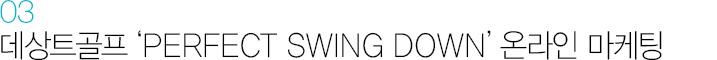 03. 데상트골프 'PERFECT SWING DOWN' 온라인 마케팅