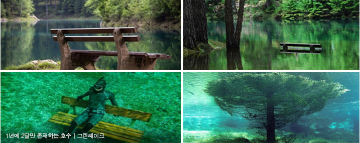 1년에 2달만 존재하는 호수 | 그린레이크